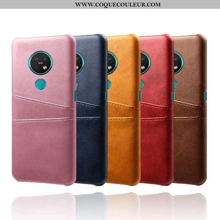 Housse Nokia 6.2 Modèle Fleurie Bovins Petit, Étui Nokia 6.2 Personnalité Coque Rose
