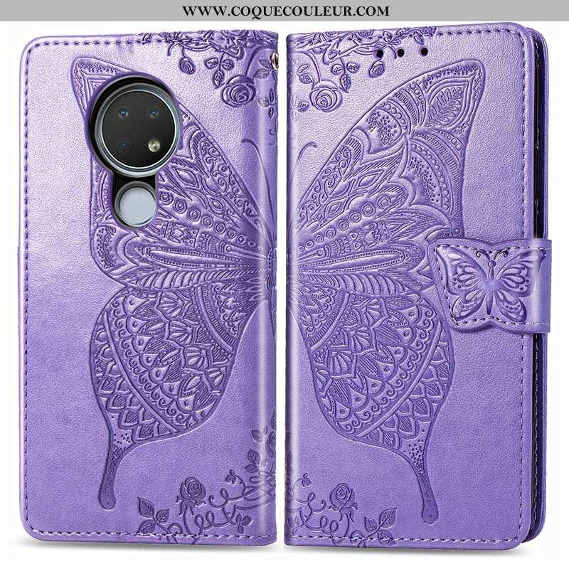 Housse Nokia 6.2 Ornements Suspendus Charmant Téléphone Portable, Étui Nokia 6.2 Gaufrage Violet