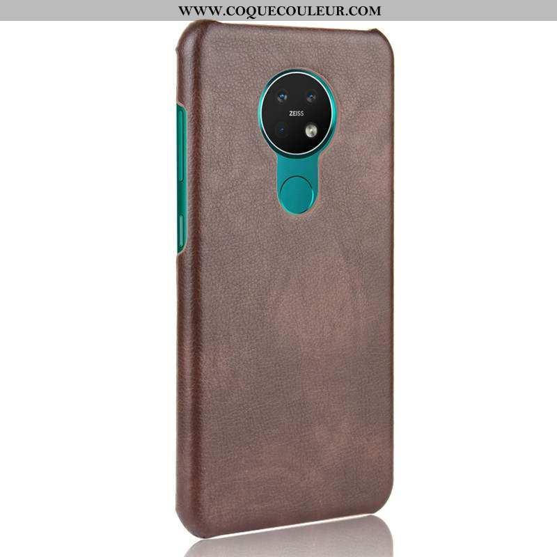 Étui Nokia 6.2 Délavé En Daim Téléphone Portable Légère, Coque Nokia 6.2 Ultra Cuir Marron