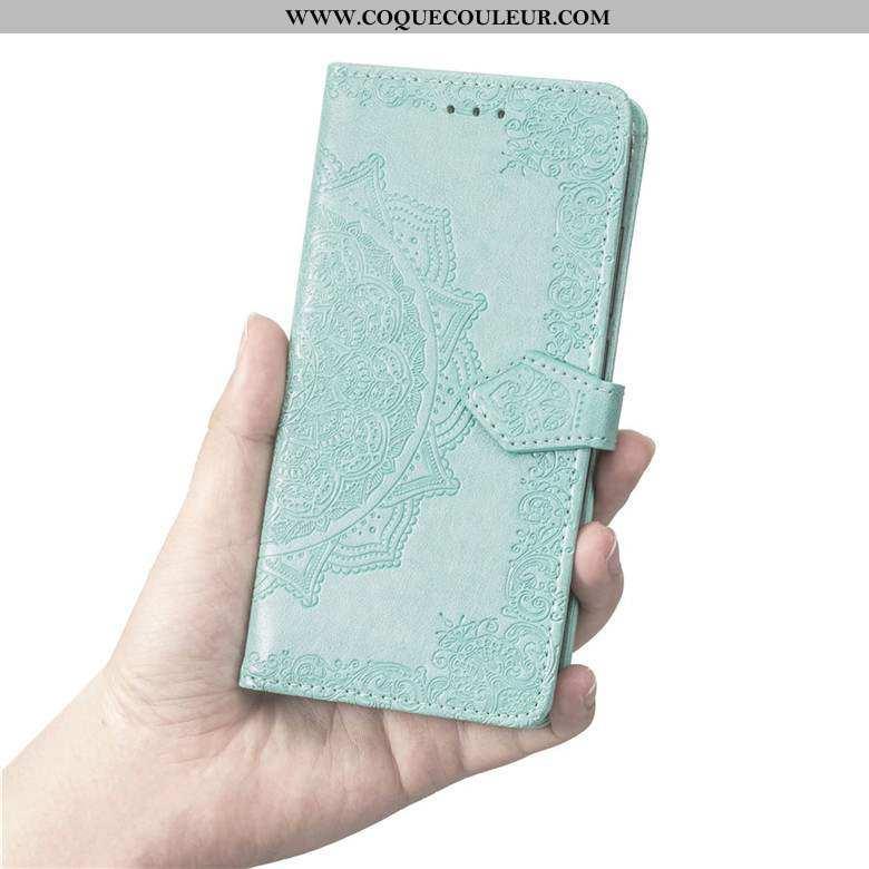Étui Nokia 6.2 Fluide Doux Protection, Coque Nokia 6.2 Silicone Clamshell Verte