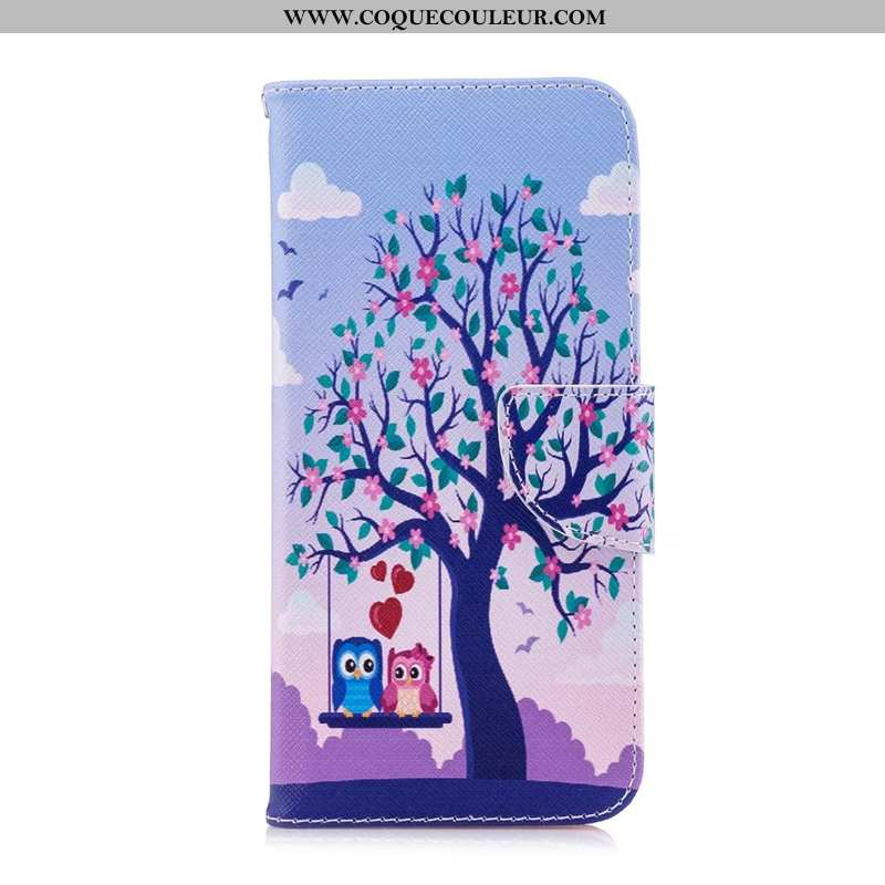 Étui Nokia 6.2 Cuir Coque Téléphone Portable, Nokia 6.2 Protection Peinture Bleu