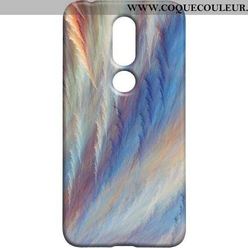Coque Nokia 7.1 Protection Créatif, Housse Nokia 7.1 Délavé En Daim Personnalité Coloré