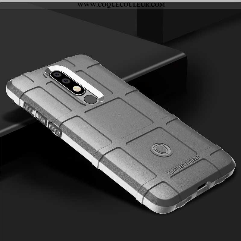 Étui Nokia 7.1 Protection Coque Europe, Nokia 7.1 Silicone Épaissir Gris