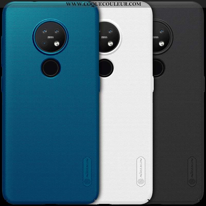 Étui Nokia 7.2 Légère Délavé En Daim Coque, Coque Nokia 7.2 Protection Incassable Blanche