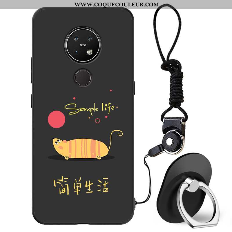 Coque Nokia 7.2 Délavé En Daim Fluide Doux Incassable, Housse Nokia 7.2 Créatif Téléphone Portable N