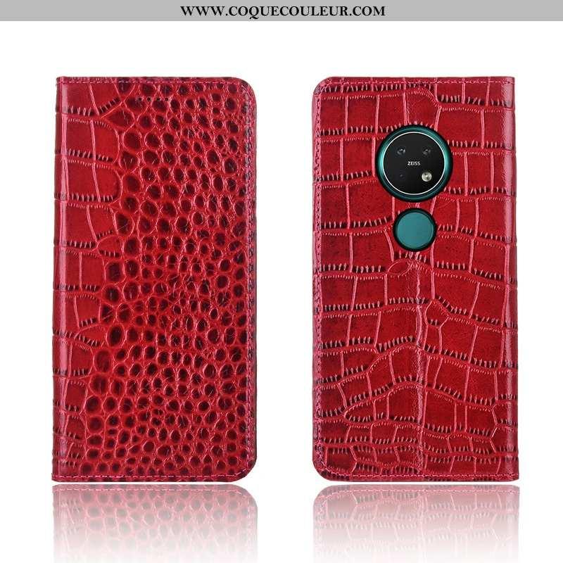 Étui Nokia 7.2 Silicone Coque Téléphone Portable, Nokia 7.2 Protection Fluide Doux Rouge