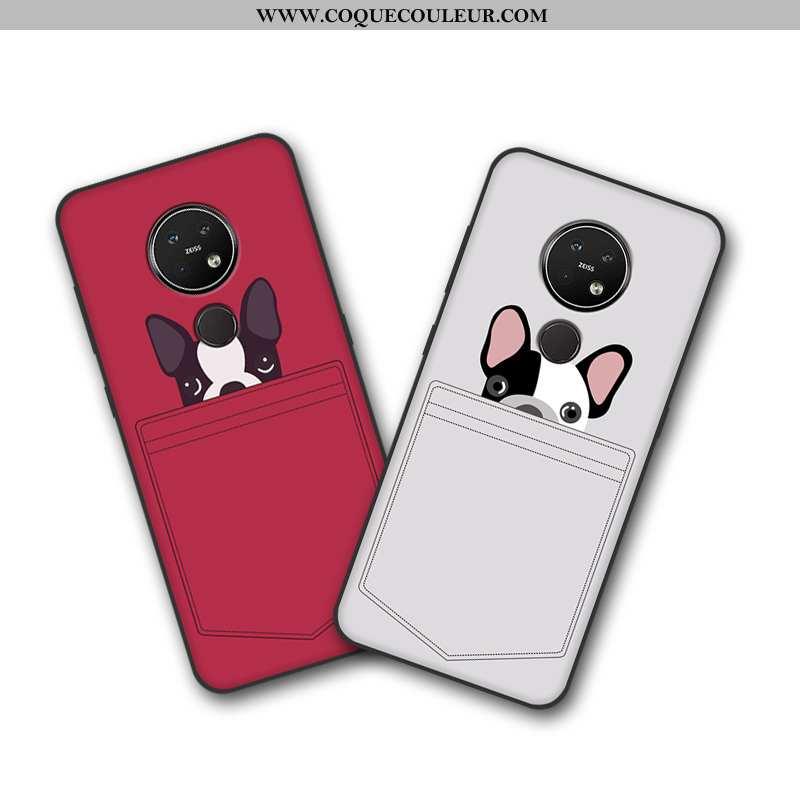 Étui Nokia 7.2 Dessin Animé Créatif Téléphone Portable, Coque Nokia 7.2 Tendance Beige