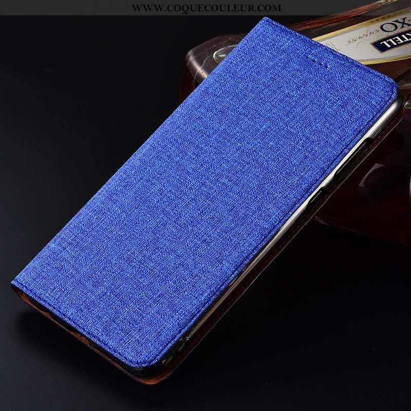 Coque Nokia 7.2 Protection Tout Compris Téléphone Portable, Housse Nokia 7.2 Cuir Silicone Bleu Fonc