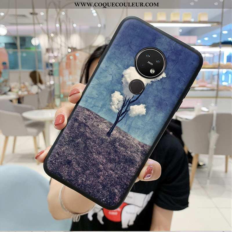Housse Nokia 7.2 Protection Tout Compris Téléphone Portable, Étui Nokia 7.2 Tendance Coque Bleu