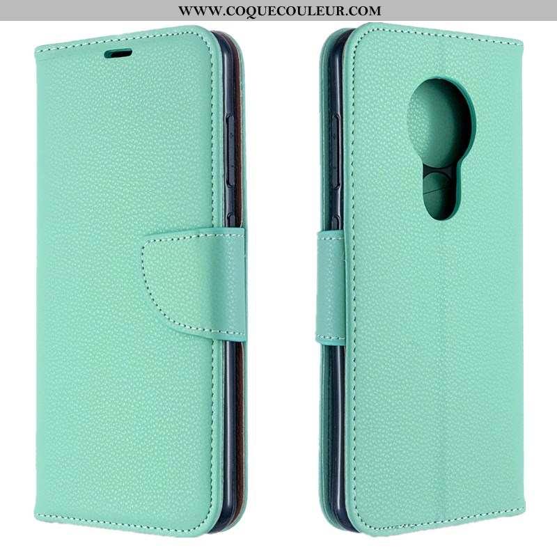 Housse Nokia 7.2 Mode Carte, Étui Nokia 7.2 Protection Verte