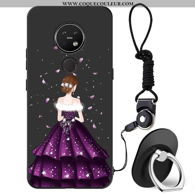 Étui Nokia 7.2 Protection Coque Petit, Nokia 7.2 Charmant Mode Noir