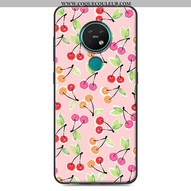 Étui Nokia 7.2 Fluide Doux Créatif Coque, Coque Nokia 7.2 Protection Rose