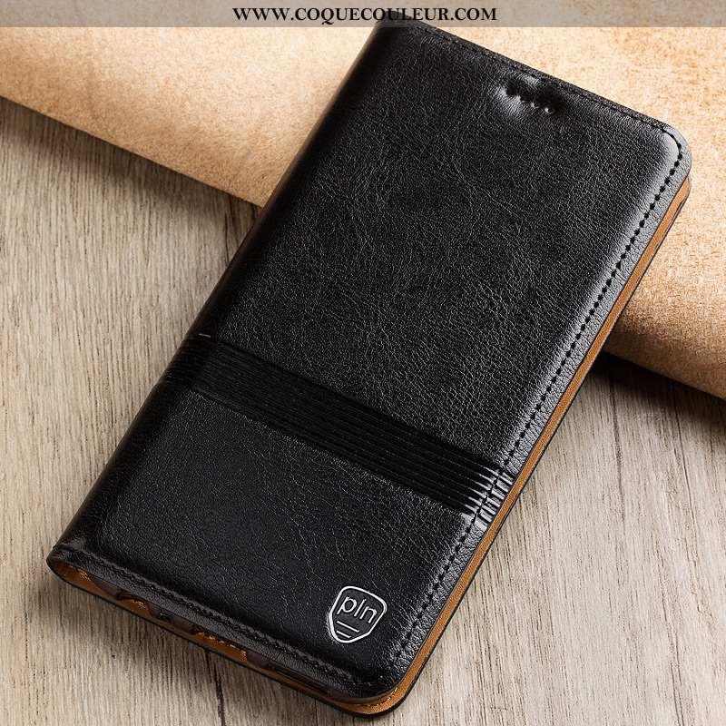 Housse Nokia 7 Plus Protection Téléphone Portable Incassable, Étui Nokia 7 Plus Cuir Véritable Coque