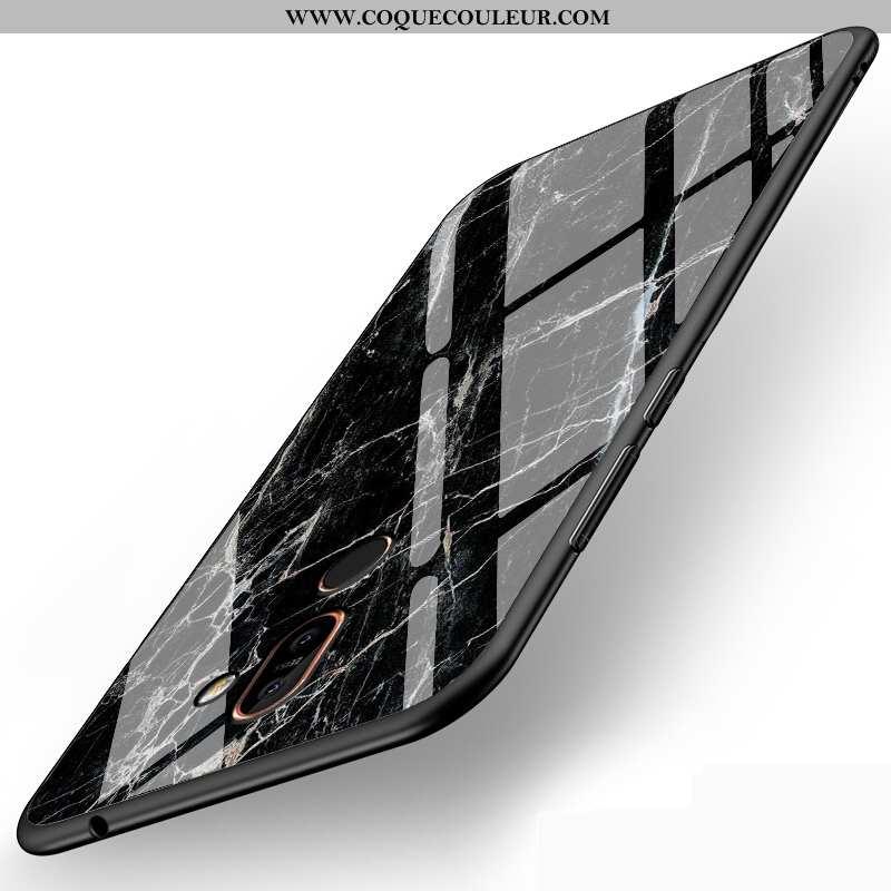 Housse Nokia 7 Plus Verre Incassable Téléphone Portable, Étui Nokia 7 Plus Personnalité Noir