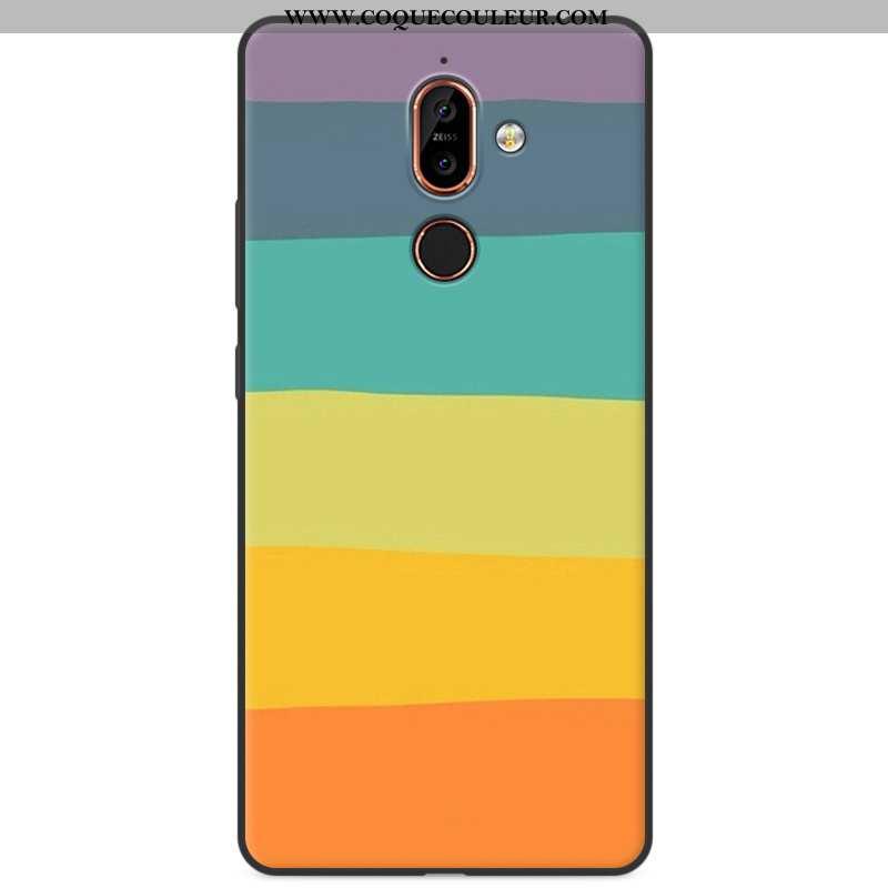 Housse Nokia 7 Plus Protection Silicone Incassable, Étui Nokia 7 Plus Dessin Animé Tout Compris Colo