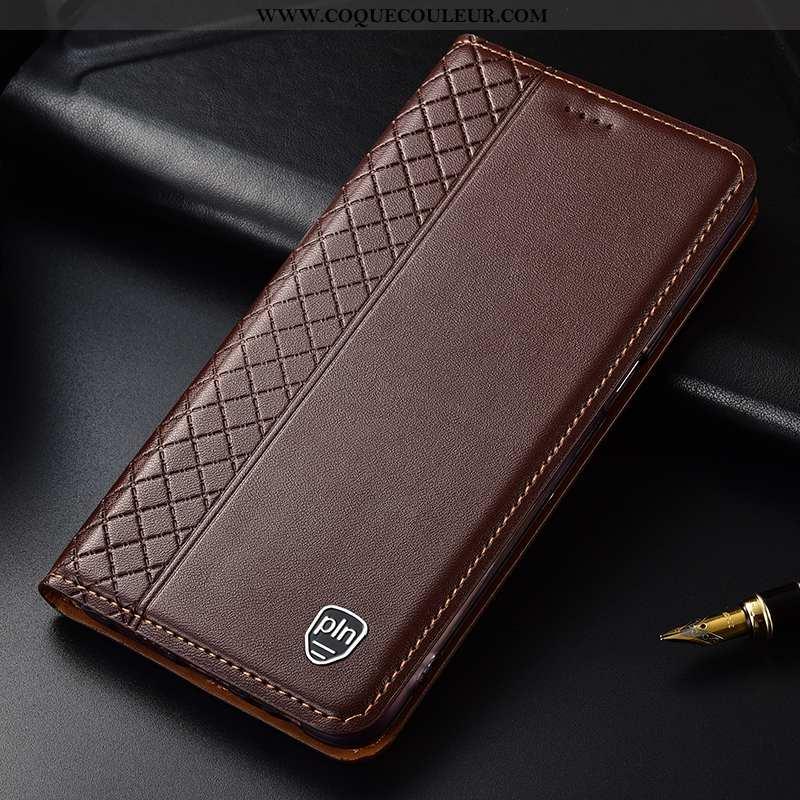 Étui Nokia 7 Plus Cuir Téléphone Portable Véritable, Coque Nokia 7 Plus Protection Tout Compris Marr