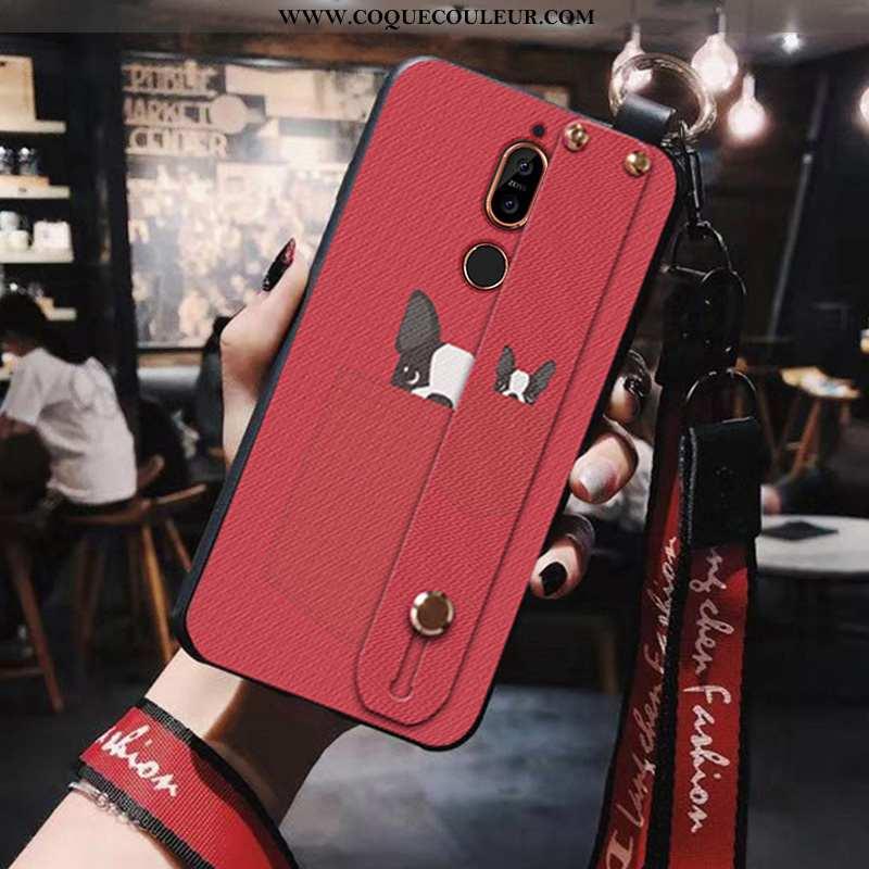 Étui Nokia 7 Plus Dessin Animé Coque Incassable, Nokia 7 Plus Silicone Tout Compris Rouge