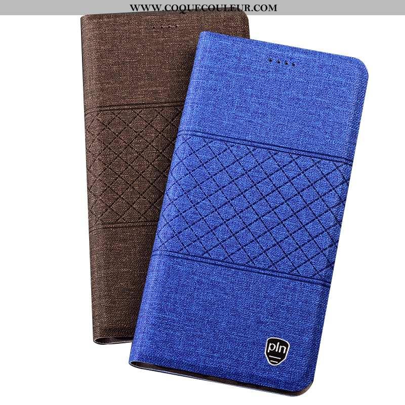 Housse Nokia 7 Plus Protection Coque Lin, Étui Nokia 7 Plus Bleu Mesh