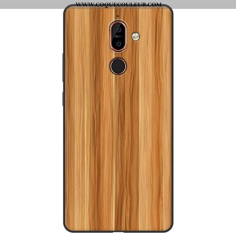 Housse Nokia 7 Plus Silicone Fluide Doux Coque, Étui Nokia 7 Plus Protection Téléphone Portable Jaun