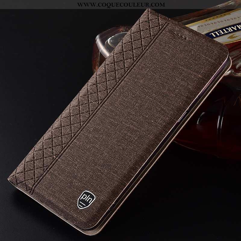 Étui Nokia 8.1 Protection Lin, Coque Nokia 8.1 Tout Compris Marron