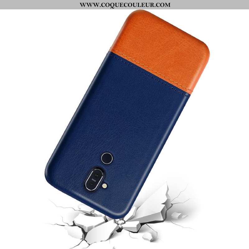 Étui Nokia 8.1 Protection Incassable Téléphone Portable, Coque Nokia 8.1 Personnalité Qualité Bleu