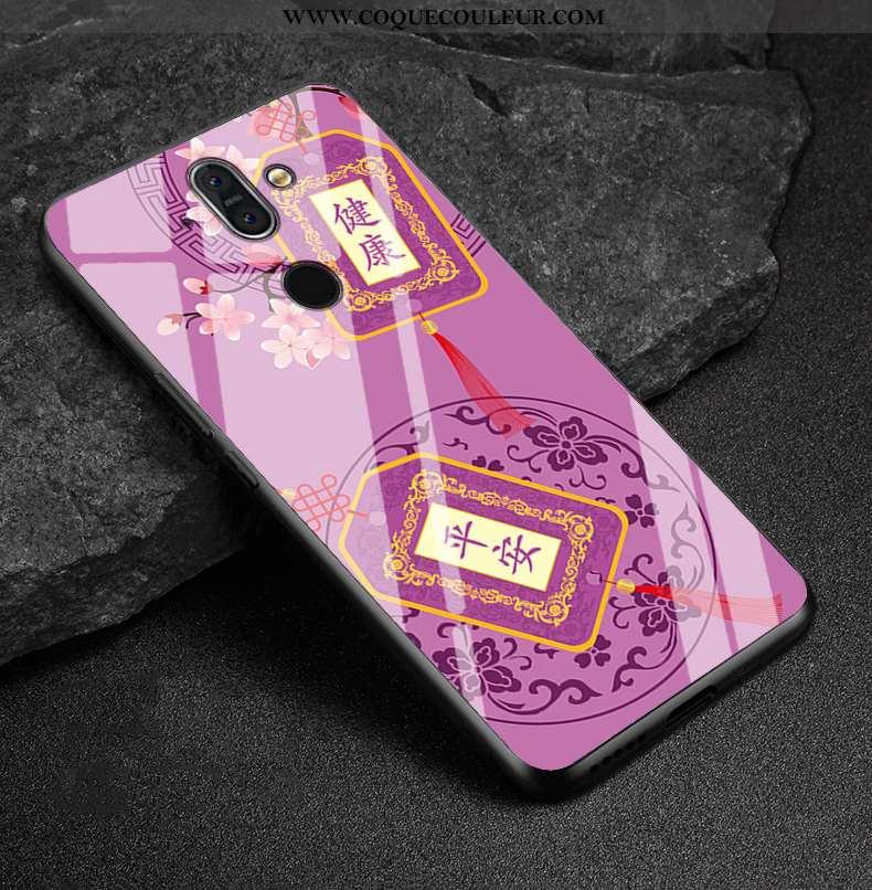 Étui Nokia 8 Sirocco Protection Coque Étui, Nokia 8 Sirocco Verre Téléphone Portable Violet