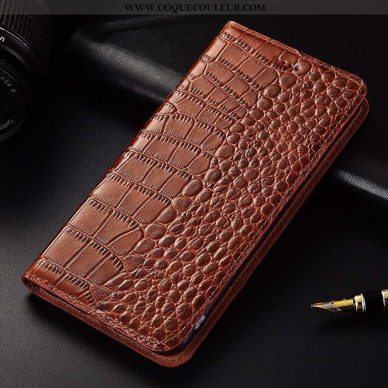 Coque Nokia 8 Sirocco Cuir Haute Marron, Housse Nokia 8 Sirocco Fluide Doux Protection Véritable Mar