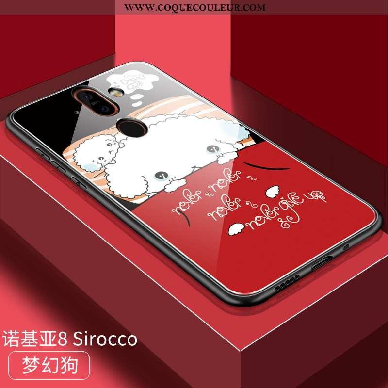 Étui Nokia 8 Sirocco Dessin Animé Coque Amoureux, Nokia 8 Sirocco Charmant Tout Compris Rouge