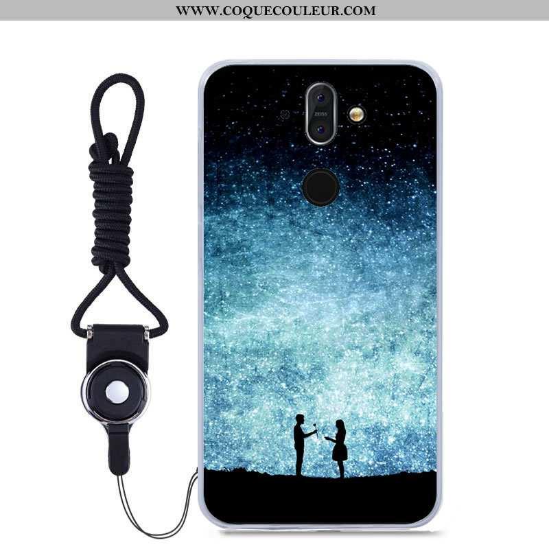 Étui Nokia 8 Sirocco Fluide Doux Tout Compris Peinture, Coque Nokia 8 Sirocco Bleu Haute