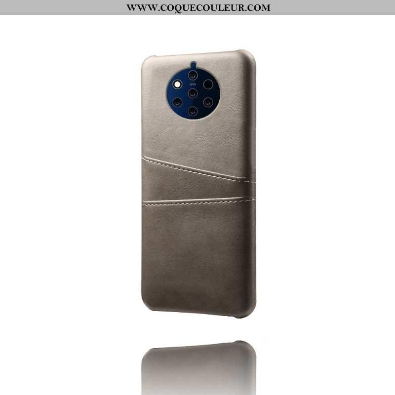 Étui Nokia 9 Pureview Cuir Carte Pu, Coque Nokia 9 Pureview Téléphone Portable Gris