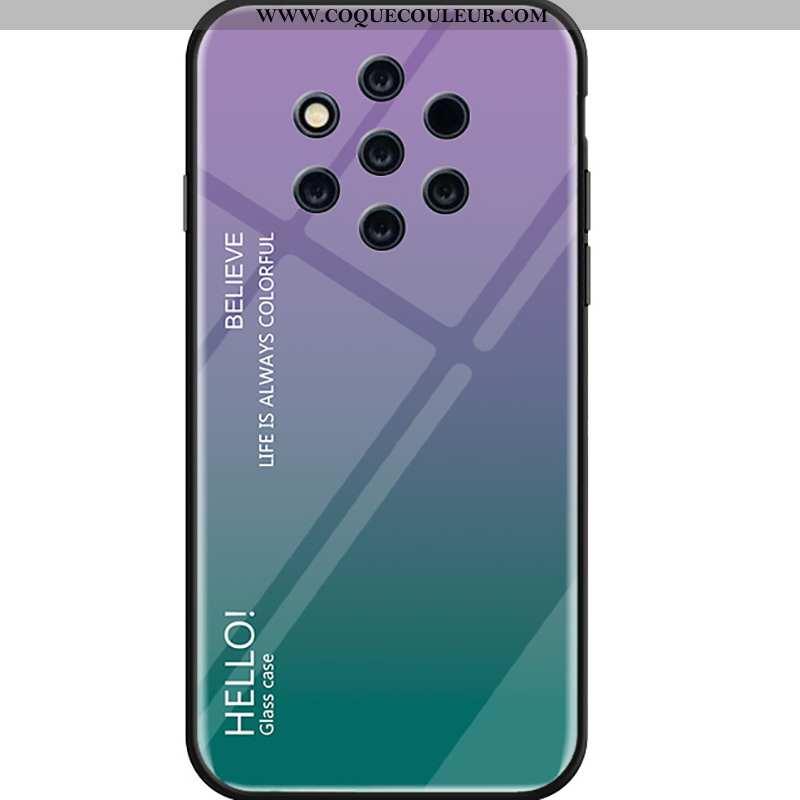 Housse Nokia 9 Pureview Verre Incassable Étui, Étui Nokia 9 Pureview Tendance Dégradé Violet