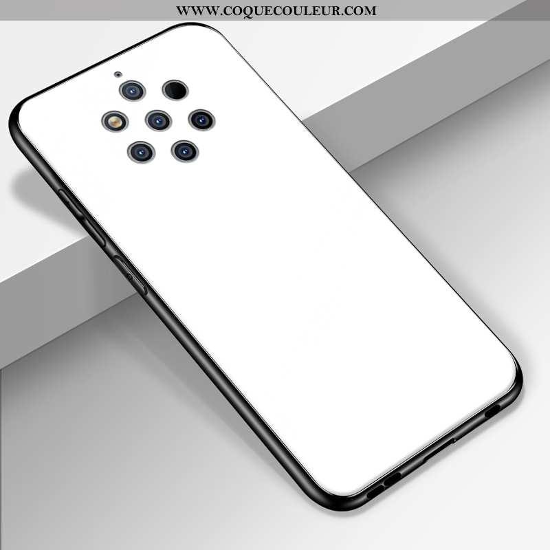 Coque Nokia 9 Pureview Délavé En Daim Personnalisé Couleur Unie, Housse Nokia 9 Pureview Fluide Doux
