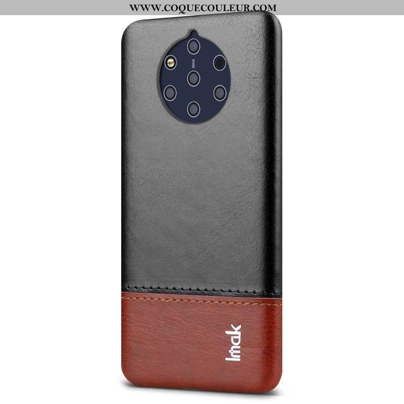Étui Nokia 9 Pureview Cuir Personnalité Étui, Coque Nokia 9 Pureview Protection Pu Noir