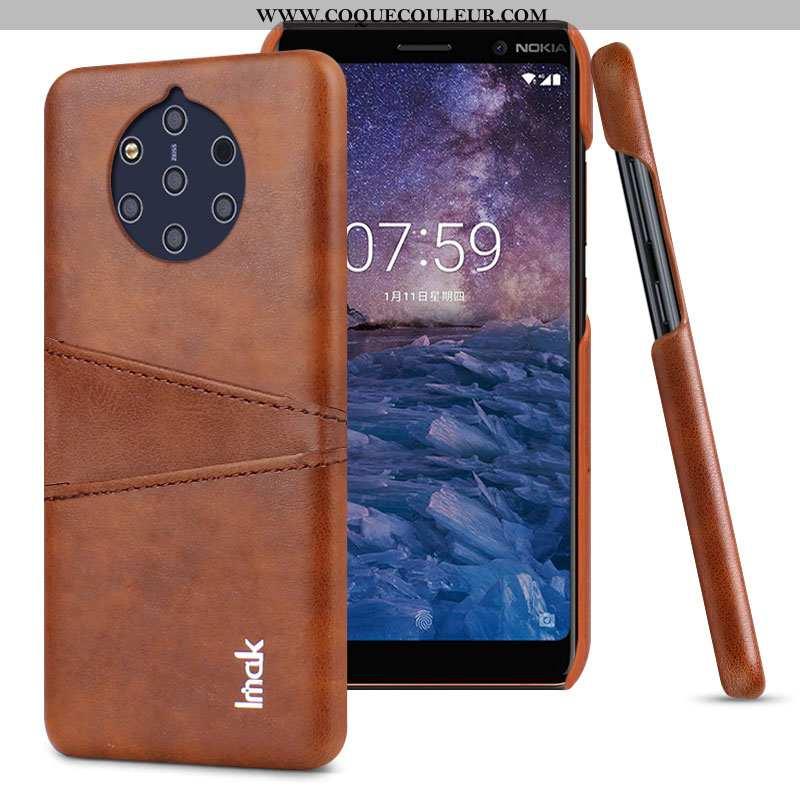 Housse Nokia 9 Pureview Cuir Marron Difficile, Étui Nokia 9 Pureview Protection Carte