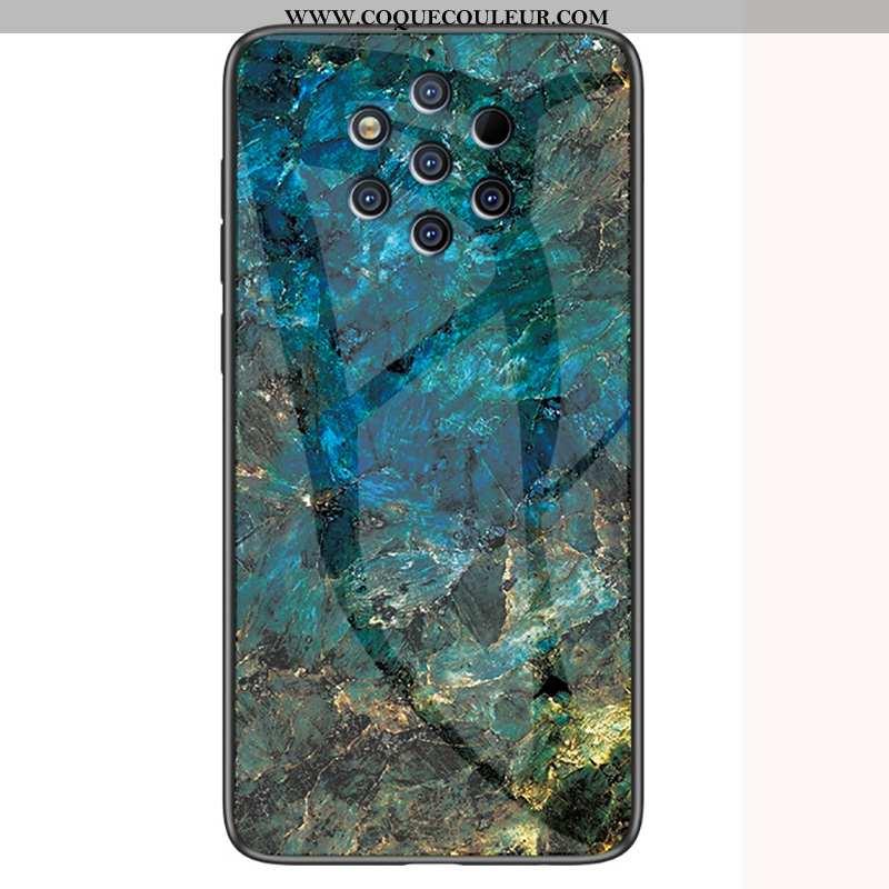 Housse Nokia 9 Pureview Verre Modèle Fleurie Coque, Étui Nokia 9 Pureview Personnalité Vert Verte