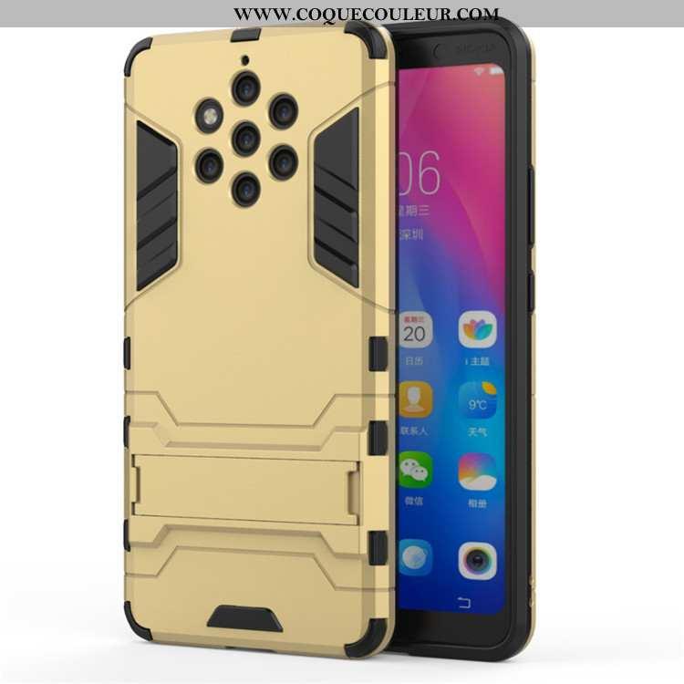 Housse Nokia 9 Pureview Protection Étui Téléphone Portable, Nokia 9 Pureview Armure Coque Doré