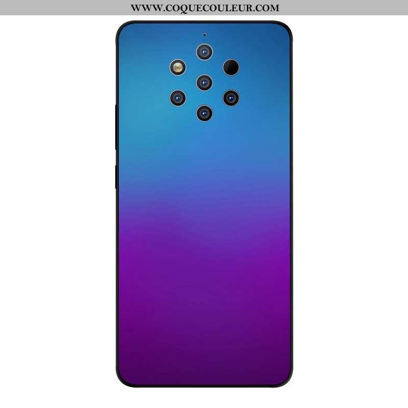 Coque Nokia 9 Pureview Verre Étui Violet, Housse Nokia 9 Pureview Créatif Téléphone Portable Violet