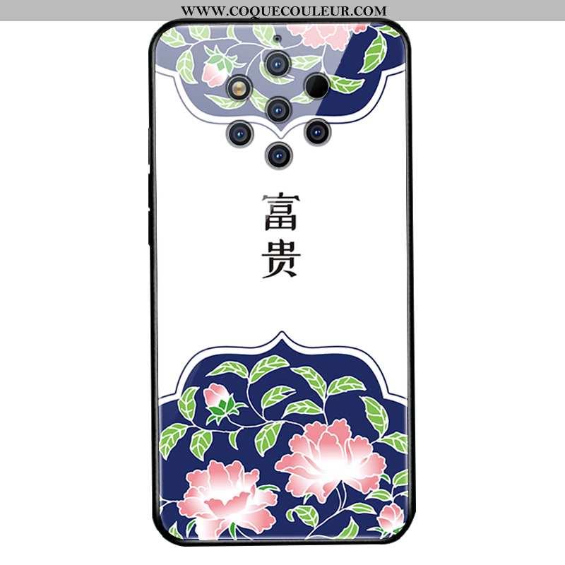 Étui Nokia 9 Pureview Protection Coque Étui, Nokia 9 Pureview Verre Blanc Blanche