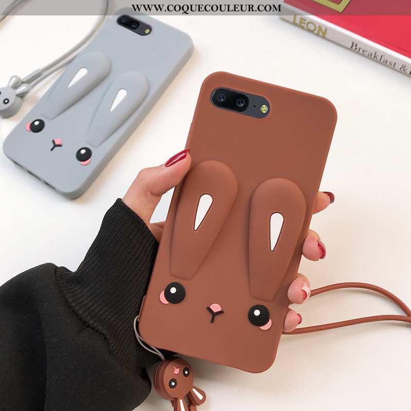 Coque Oneplus 5 Silicone Téléphone Portable Étui, Housse Oneplus 5 Fluide Doux Tout Compris Marron