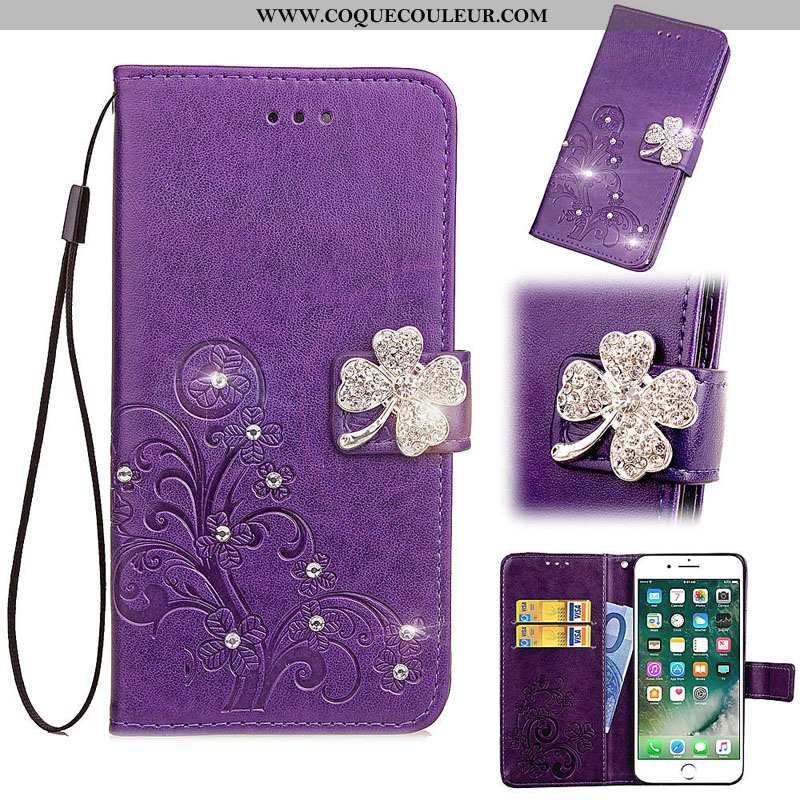 Coque Oneplus 5 Protection Étui Fluide Doux, Housse Oneplus 5 Cuir Téléphone Portable Violet