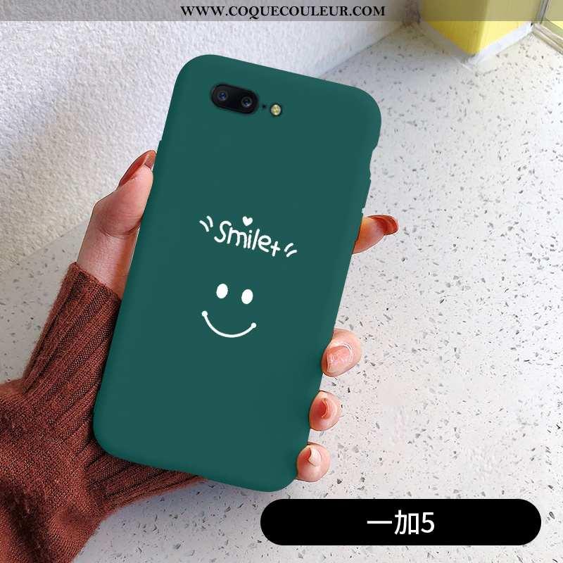 Étui Oneplus 5 Silicone Simple Vert, Coque Oneplus 5 Mode Verte