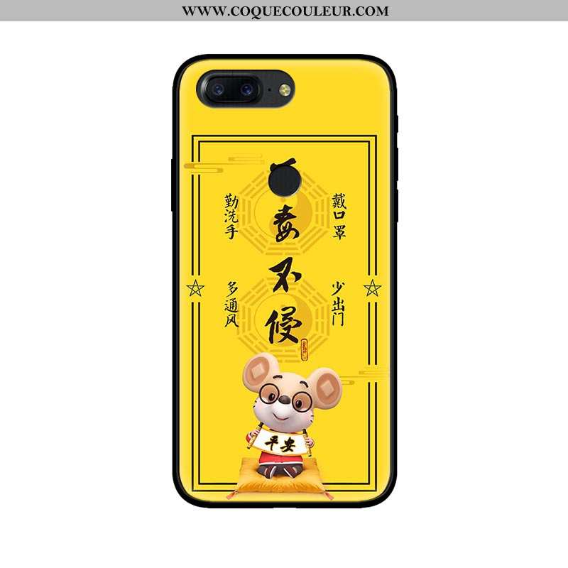 Housse Oneplus 5t Tendance Téléphone Portable Personnalité, Étui Oneplus 5t Fluide Doux Créatif Jaun