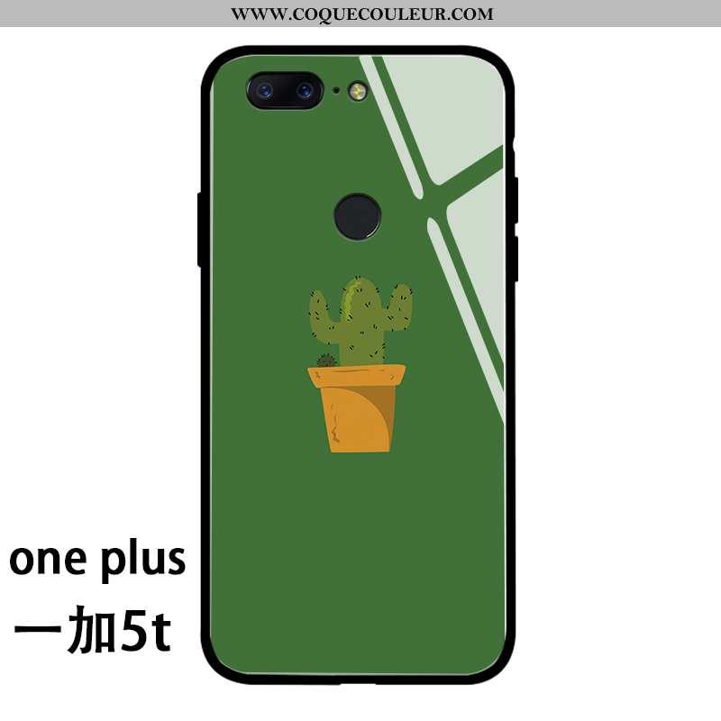 Étui Oneplus 5t Charmant Simple Mode, Coque Oneplus 5t Silicone Protection Verte