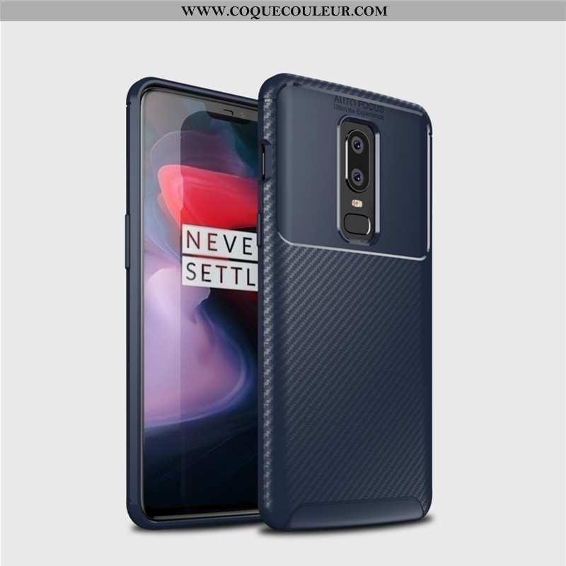 Étui Oneplus 6 Ultra Silicone Téléphone Portable, Coque Oneplus 6 Tendance Personnalité Bleu