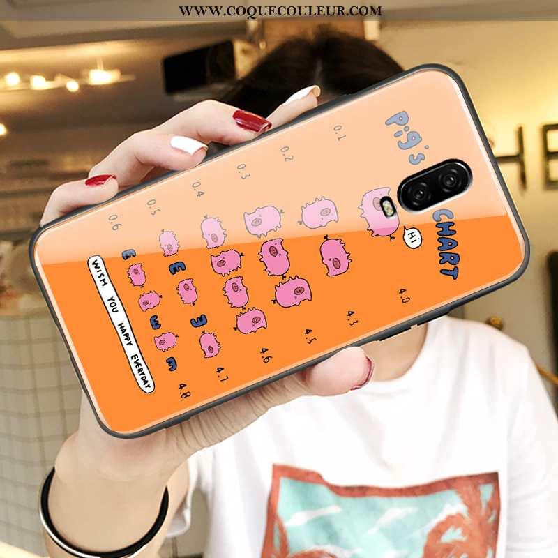 Étui Oneplus 6t Créatif Protection Simple, Coque Oneplus 6t Dessin Animé Orange