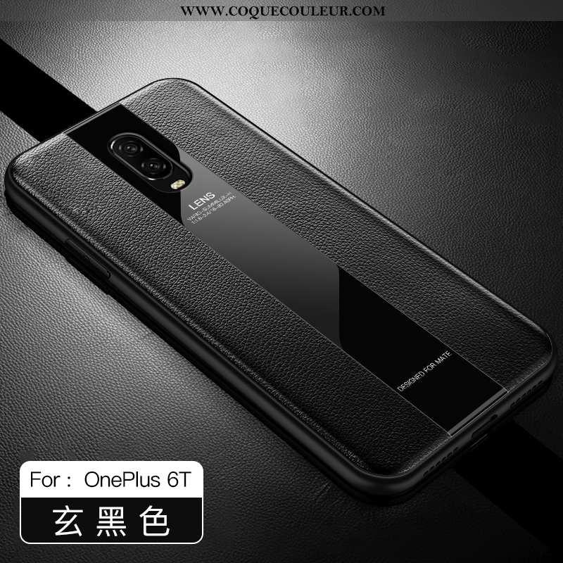 Housse Oneplus 6t Protection Légère Incassable, Étui Oneplus 6t Luxe Ultra Noir