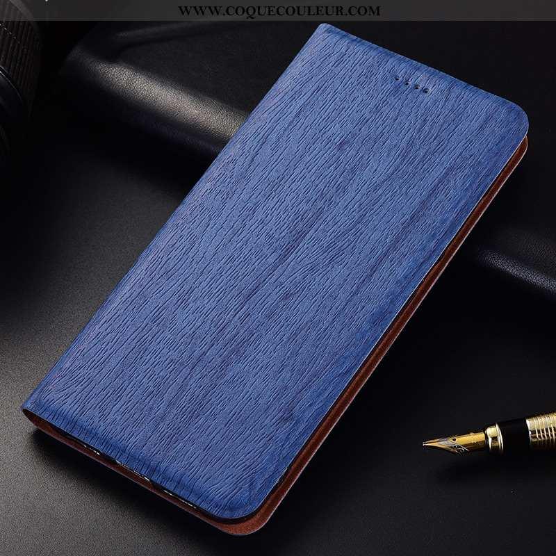 Étui Oneplus 6t Fluide Doux Modèle Fleurie, Coque Oneplus 6t Silicone Clamshell Bleu Foncé
