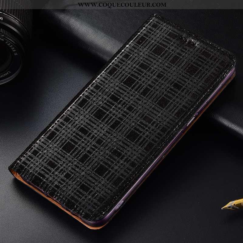 Étui Oneplus 6t Protection Tout Compris Incassable, Coque Oneplus 6t Cuir Véritable Noir