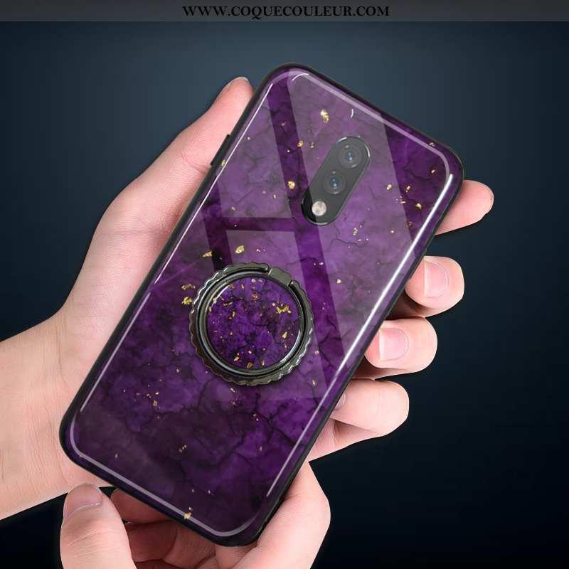 Housse Oneplus 7 Luxe Rouge Protection, Étui Oneplus 7 Fluide Doux Téléphone Portable Violet