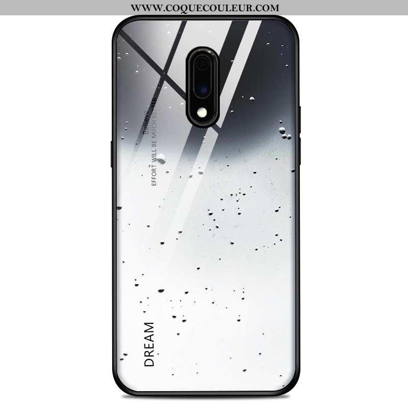 Étui Oneplus 7 Silicone Tendance Téléphone Portable, Coque Oneplus 7 Protection Tout Compris Blanche